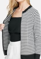 Daisy Street - Zip stripe sweat top