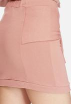 Daisy Street - Sweat mini skirt with tie front co-ord