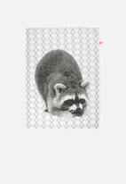 Present Time - Racoon tea towel
