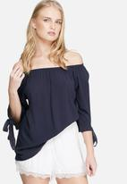 dailyfriday - Off shoulder crepe tie top