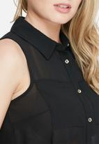 dailyfriday - Sleeveless pocket tunic top
