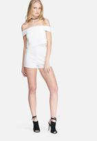 Missguided - Crepe bardot playsuit