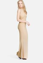 Missguided - Wrap halter maxi dress