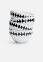 Sixth Floor - Geometric bowl set of 4