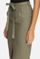 dailyfriday - Linen pleated skirt