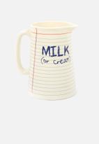 Temerity Jones - Notebook milk jug