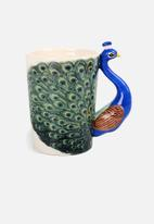 Temerity Jones - Peacock mug
