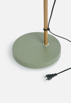 Present Time - Floor lamp wood-like metal