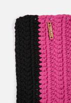 Sew Hooked - Multi stripe bathmat