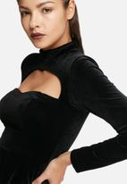 Glamorous - Open chest velvet dress