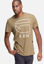 G-Star RAW - Brons regular tee