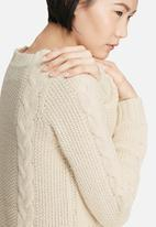 VILA - Riva cable knit dress