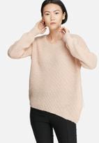 VILA - Matcha asymmetric knit