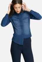 ONLY - Rock it fitted denim shirt