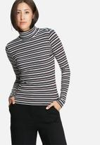 ONLY - Striped turtleneck top