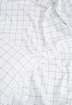Sixth Floor - Grey grid sheet set