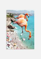 83 Oranges - Flamingos on the beach