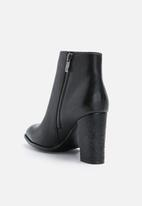 Daisy Street - Alpha embossed heel boot