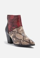 Daisy Street - Python ankle boot