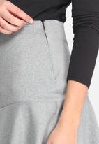 dailyfriday - Dropped waist scuba mini skirt