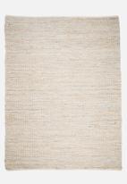 Sixth Floor - Hemp & leather rug