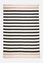 Sixth Floor - Panama stripe cotton rug