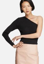 Noisy May - Lurry one-shoulder knit top