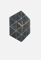 Present Time - Marble hexagon wall clock