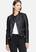 Jacqueline de Yong - Anika faux leather biker jacket
