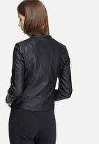 Jacqueline de Yong - Anika faux leather biker jacket