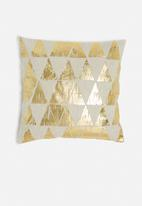 Sixth Floor - Pyramid cushion cover - gold
