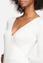 dailyfriday - Wrap V-neck bodysuit