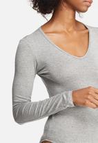 dailyfriday - V-neck long sleeve bodysuit