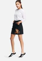 Glamorous - Embroidered denim skirt