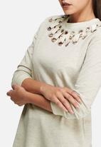 Glamorous - Eyelet detail longline top