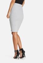 Missguided - Popper side ribbed midi skirt