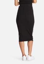 Missguided - Ribbed side stripe midi skirt