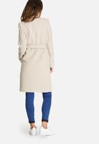 Missguided - Belted stand up collar coat