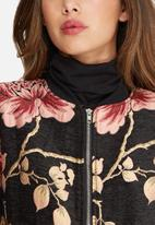 Missguided - Premium jacquard floral bomber jacket