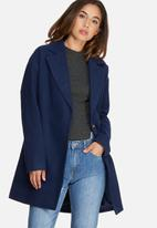 Missguided - Drop Shoulder double breasted faux wool coat