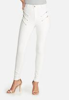 Missguided - Vice multi zip thigh skinny jeans