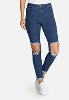 Missguided - Anarchy authentic busted knee skinny jeans