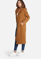 Missguided - Premium military faux wool maxi coat
