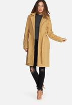 Missguided - Belted tailored faux wool coat