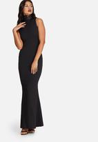 Missguided - Crepe neck lace maxi dress