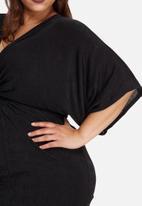 Missguided - Plus size slinky kimono mini dress