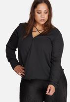 Missguided - Plus size harness detail blouse
