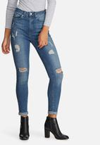 Missguided - sinner highwaisted ripped skinny jeans