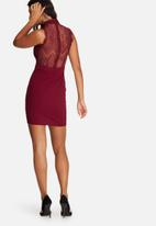 Missguided - Lace cami choker bodycon dress