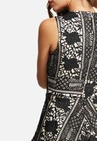 Missguided - Lace plunge skater dress
